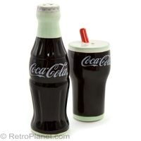 Coca-Cola Glass and Bottle S and P Shakers
