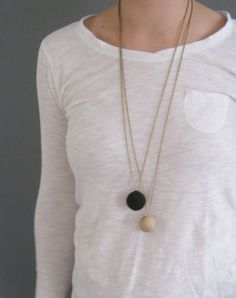 wooden bead on chain