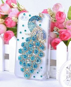 Oh my gosh luv this bedazzled peacock case for iPhone and iPod touch