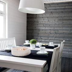 Like the grey paneling. Interior Walls, Interior And Exterior, Home Design Decor, Home Decor, Compact Living, Bohemian Interior, White Paneling, Living Room Inspiration, Wooden Walls