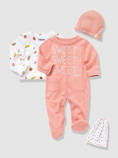 Canastilla 3 prendas y bolsa bebé