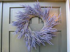 Unique lavender wreath