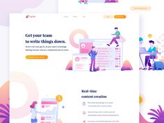 Niche Homepage designed by Nugraha Jati Utama for Suarasa. Connect with them on Dribbble; Homepage Design, App Ui Design, Flat Design, Charity Run, Flat Illustration, Illustrations, Ui Design Inspiration, Application Design, Teamwork