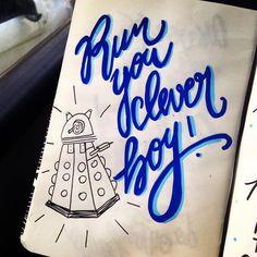 Exterminate! #doctorwho #doctorwhofanart #dalek #handwritting #handlettering #illustration #sketchbook #calligraphy #handmade