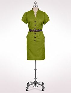 Women's | Dresses | Pintucked Belted Shirtdress | dressbarn