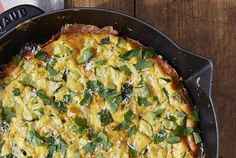 Though its peak season is summer, zucchini is available year-round—just be sure to pick out the best-looking squashes. They should be firm (not spongy), vibrant in color, and free of blemishes. Cooking the squash before stirring it into the egg mixture helps eliminate some of the moisture, and adds a nice crisp-tender texture to the creamy eggs and cheese. Though it bakes primarily in the oven, finishing the frittata under the broiler gives the top and outer edges a bit of crispness. Serve…