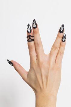 Satanic Matte Black Nails