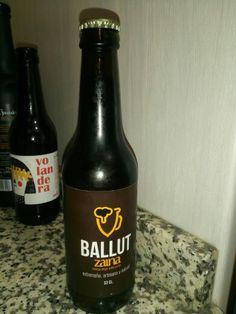 Ballut. Zaina. Extremeña artesana y natural. Cerveza Negrs estilo porter. 5.8%.