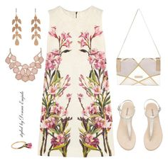 """""""Pink Floral"""" by emjule ❤ liked on Polyvore featuring Dolce&Gabbana, River Island and Irene Neuwirth"""