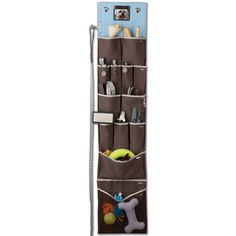 This Wall Hanging Organizer is one-stop storage for all your pet's accessories. With different-sized pockets for all of Fido's favorite things—like his collar, leashes, and treats, plus a large net pocket big enough for his toys—you'll never again be wandering around the house searching for your pup's accouterments. It even features a spot for Fido's best pic so everyone will know whose all those goodies belong to.