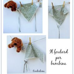Come fare un foulard per bambina, taglia 12-24 mesi