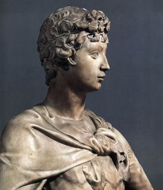 Donatello*, in his early twenties, was commissioned to carve a statue of David in 1408, to top one of the buttresses of Florence Cathedral, though it was never to be placed there. Nanni di Banco was commissioned to carve a marble statue of Isaiah, at the same scale, in the same year.