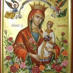 The virgin Mary Religious Icons, Religious Art, Hail Holy Queen, Religion, Sign Of The Cross, Queen Of Heaven, Russian Icons, Blessed Mother Mary, Mary And Jesus