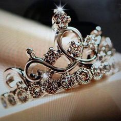 popular bling 925 silver crown titra promise ring