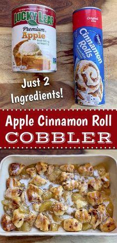 Pillsbury Cinnamon Rolls, Pillsbury Recipes, Cinnamon Rolls Bake, Cinnamon Rolls With Apples, Homemade Cinnamon Rolls, Cinnamon Roll Casserole, Cinnamon Roll Cookies, Quick Easy Desserts, Breakfast