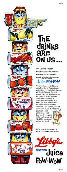 Libby's juice, 1960