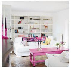 Girly chic living room