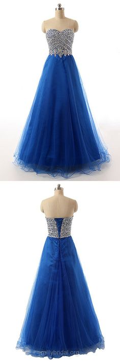 Royal Blue Prom Dresses, Long Prom Dresses, Princess Formal Dresses, Sweetheart Evening Dresses, Sexy Party Gowns