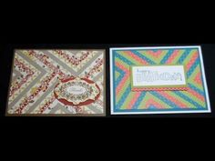 card making video tutorial ... Herringbone technique card - YouTube ... luv the quilted look ...