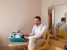 Der Autor bei der Arbeit...