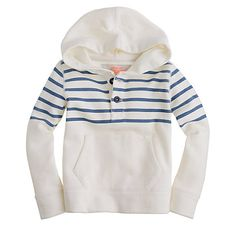 Don't know if he'd wear it, only one way to find out... Boys' fleece popover hoodie J Crew