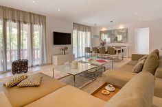 Living Room designed by Knox Design in Villa Portals Nous
