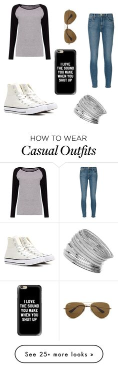 """Casual Trip"" by loubunt on Polyvore featuring Converse, Frame Denim, Boohoo, Ray-Ban, Miss Selfridge and Casetify"