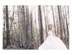 winter bridal portrait session, glam outdoor copyright @Kristin Vining Photography Charlotte, NC Wedding Photographer