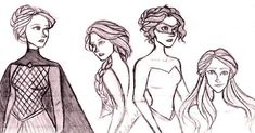 Celaena Sardothien - throne of glass (I DID NOT DRAW THESE, though ...