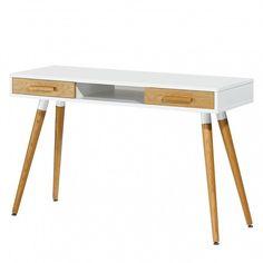 Schreibtisch Lewin - Eiche teilmassiv | home24