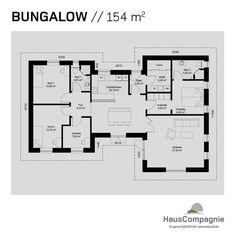 Bungalow Grundrisse – Bungalow build with - Build Container Home 1 Bedroom House, Small Farm, New Home Designs, House Floor Plans, Planer, New Homes, House Design, How To Plan, Lunch