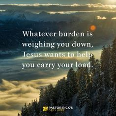 Jesus Wants to Bear Your Burden with You - Pastor Rick's Daily Hope Prayer For Guidance, Prayer For Peace, Spiritual Guidance, Christian Motivation, Christian Quotes, Burden Quotes, Pastor Rick Warren, Encouragement For Today, Bible Verse Pictures