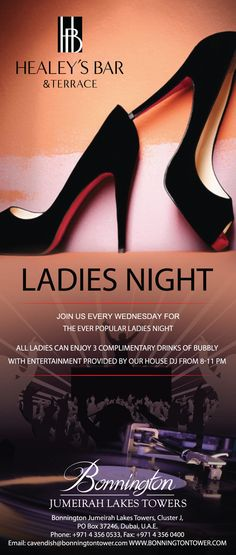 Ladies Night in our Healey's Bar & Terrace. Stylish bar, stylish entertainment!