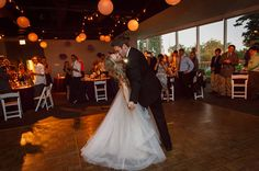 Victoria & Ethan's indoor wedding reception. Photo by Ann and Kam Photography.