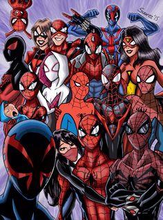 Spidermen and Spiderwomen