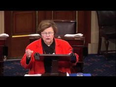 """Senator Mikulski speaks in support of the Violence Against Women Act. """"I'm going to yield the floor, but I will not yield my support."""""""