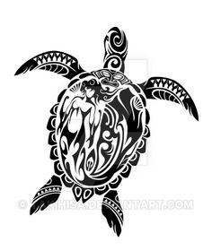 Tribal sea turtle. Toned Maori style, I tried to draw to incorporate in the design and Tiki mermaid in shell. SALE@ 1. www.designbyhumans.com/shop/t-… (world wide) 2. society6.com/product/ho...