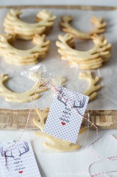 BEST ever sugar cookie recipe will NOT spread when you bake. Cookies turn out beautiful and in the shape you desire every time. Free cute deer printable too.
