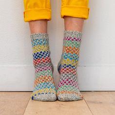 """""""Spotty Socks"""" - Free Socks Knitting Pattern For Women in Paintbox Yarns Socks"""