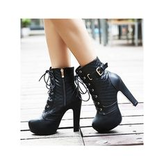 Sexy Black Buckle Design Red Sole High Heel Boots Source by eastorbunny fashion boots Platform Ankle Boots, Platform High Heels, High Heel Boots, Heeled Boots, Bootie Boots, Shoe Boots, Boot Heels, Ankle Booties, Dream Shoes