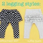 Lots of crafts and sewing projects here. DIY Leggings: Attached Skirt & Ruffle Bum and so many more DIY projects for boys and girls!