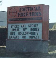 #gunhumor #sticksandstones