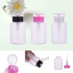 160 ML Kosong Pompa Dispenser Nail Art Polandia Remover Cair Alkohol Botol Nail Polish Cleaner Botol Penyimpanan Kontainer Tekan