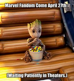 Groot — More like camping outside the theater the night...
