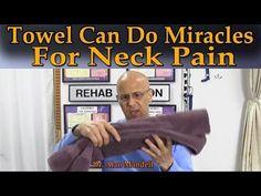Relief Technique for a Stiff Neck (Wry Neck, Torticollis) - Dr Mandell Neck And Shoulder Pain, Neck And Back Pain, Neck Pain Remedies, Arthritis Remedies, Pinched Nerve In Neck, Pinched Nerves, Stiff Neck Relief, Neck Pain Treatment, Neck Exercises
