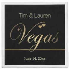 Customize your own Las Vegas napkins for your #Vegas themed wedding.