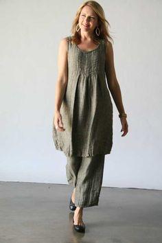 b42368543d2ada Flax Linen Clothing Traveler 2013 :: Flax Traveler 2013 :: Journey Dress at  Tender