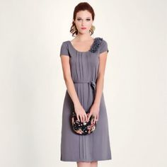 In Bloom Classic Dress in Grey