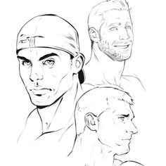 Some quick face studies from a few weeks ago #dizdoodz #sketch