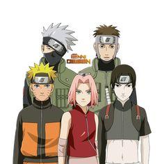 Naruto Shippuden|Team Kakashi (Team 7) by iEnniDESIGN